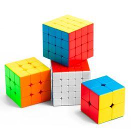 MoYu MFJS MeiLong Set 2x2, 3x3, 4x4, 5x5 Speedcubes, stickerless, Set mit 4 verschiedenen Würfeln